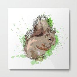 Explosive Squirrel Metal Print