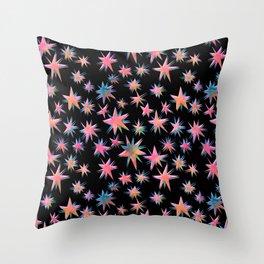 Starry Night {black} Throw Pillow