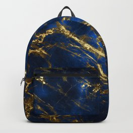 Exquisite Blue Marble With Luxury Gold Veins Backpack