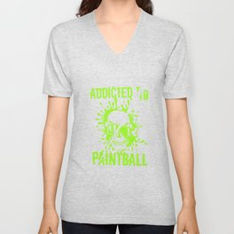 Addicted To Paintball Color Balls Paintball Player Gift Unisex V-Neck