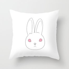 Spooky Bunny Throw Pillow