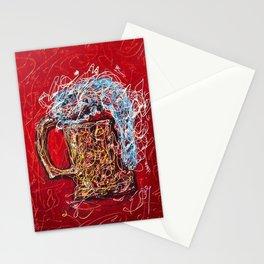 Abstract Beer - Inspired By Pollock  #society6 #wallart #buyart by Lena Owens @OLena Art Stationery Cards