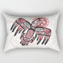 Raven Steals The Sun Rectangular Pillow