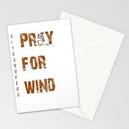 Kitesurfers Pray for Wind Stationery Cards