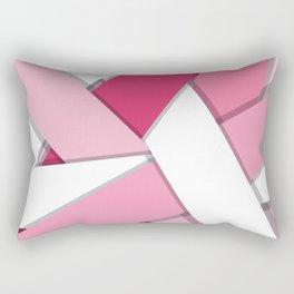 Flat Abstract Modern Design Vector Pattern breast cancer awareness  Rectangular Pillow