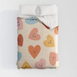 Happy Smiley Heart Comforters