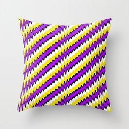 Purple gold white and black slur 2 Throw Pillow