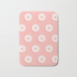 Pink Daisies  Bath Mat
