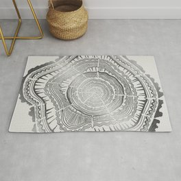 Growth Rings – 65 Years – Silver Rug