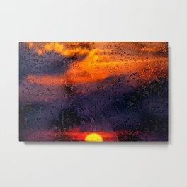 Concept sunset : Rainy sunset Metal Print