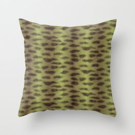 Tiger Shark Skin (Green) Throw Pillow