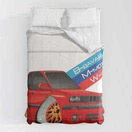 DIGITAL RAWING CARTOON CAR Comforters