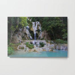 Kwang Si Waterfall, Luang Prabang, LAOS. Metal Print