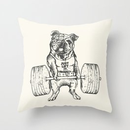 English Bulldog Lift Throw Pillow