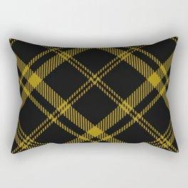 Yellow Tartan Rectangular Pillow