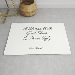 coco quote Rug