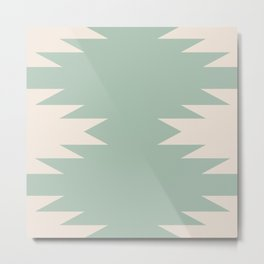 Geometric Southwestern Minimalism - Sage Green Metal Print