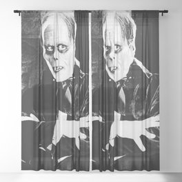 Lon Chaney || classic horror movie Sheer Curtain