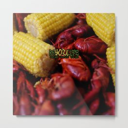Bayou Life - Crawfish Boil Metal Print