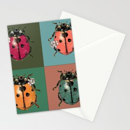 Outfits for bugs_green beetle insect Stationery Cards