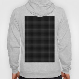 Grid in Black Hoody