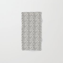 Preppy brushstroke free polka dots black and white spots dots dalmation animal spots design minimal Hand & Bath Towel