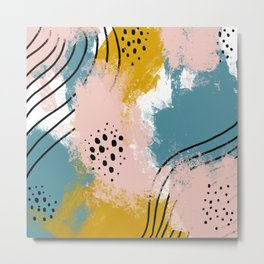 Painted Splatter Metal Print