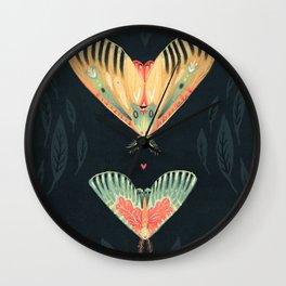 Moth Wings I Wall Clock