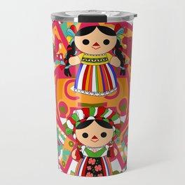 Mexican Dolls Travel Mug
