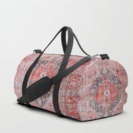 Vintage Anthropologie Farmhouse Traditional Boho Moroccan Style Texture Duffle Bag