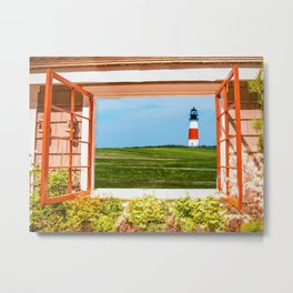 Sankaty Head Lighthouse, Nantucket Metal Print