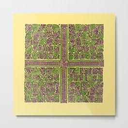 adoption kuba cloth (maze version) Metal Print