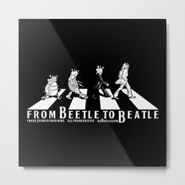 FROM BEETLE TO BEATLE Metal Print