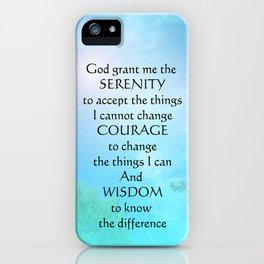 Serenity Prayer September Sky iPhone Case