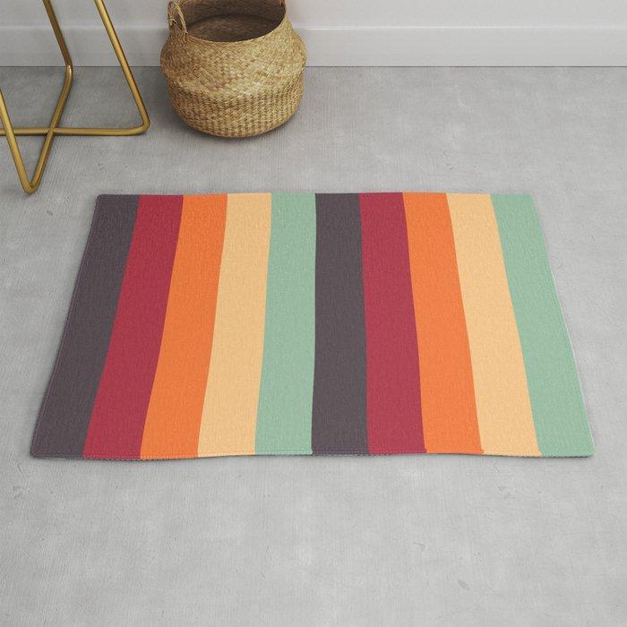 Stripes Autumn Colors Rug