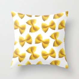 Farfalle Pasta Throw Pillow
