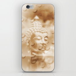 buddha in sepia iPhone Skin