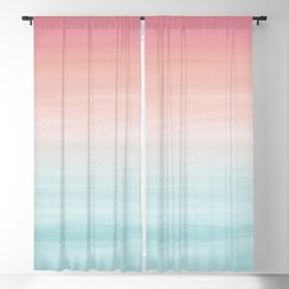 Touching Watercolor Abstract Beach Dream #1 #painting #decor #art #society6 Blackout Curtain
