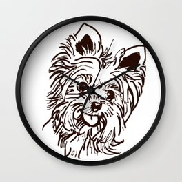 The Yorkie Dog Love of my Life! Wall Clock