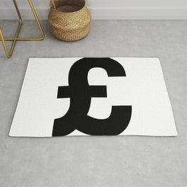 Pound Sign (Black & White) Rug