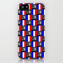 Flag and portrait: Victor Hugo iPhone Case