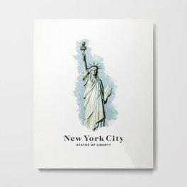 New York City Statue of Liberty Metal Print