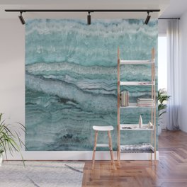 Mystic Stone Aqua Teal Wall Mural