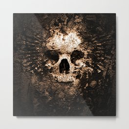 Skull Face Scary Metal Print