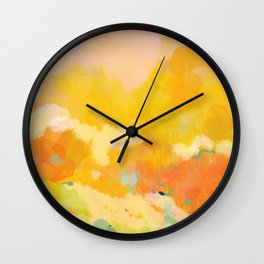 abstract spring sun Wall Clock