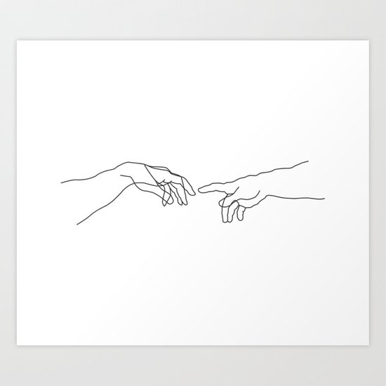 Creation of Adam Minimal Drawing by fpenderlico