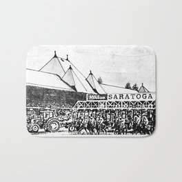 """""""The Starting Gate"""" Saratoga Springs Race Course Track Bath Mat"""