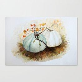 Pumpkin Patch - Watercolor Canvas Print