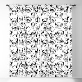 Oh Pugs Blackout Curtain