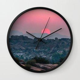 Otherworldly sunrise of Hampi, India Wall Clock